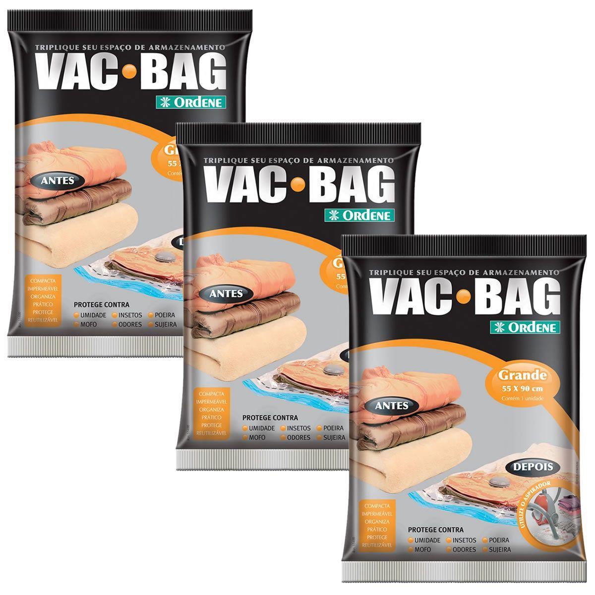 3 Saco A Vacuo Vac Bag Ordene Grande 55x90 Edredom Cobertas Saco A Vacuo Magazine Luiza