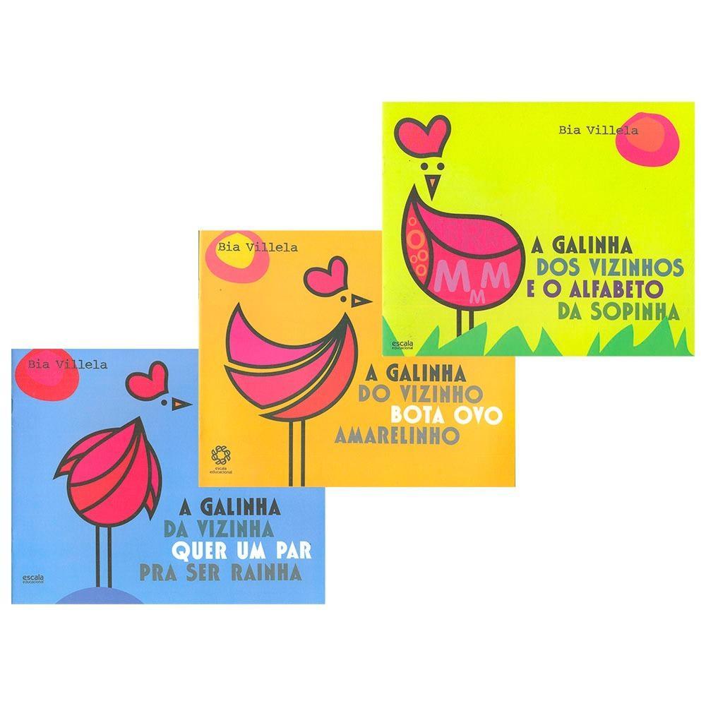 A Galinha Dos Ovo De Ouro Para Colorir a galinha do vizinho coleção em 3 volumes infantis - escala educacional