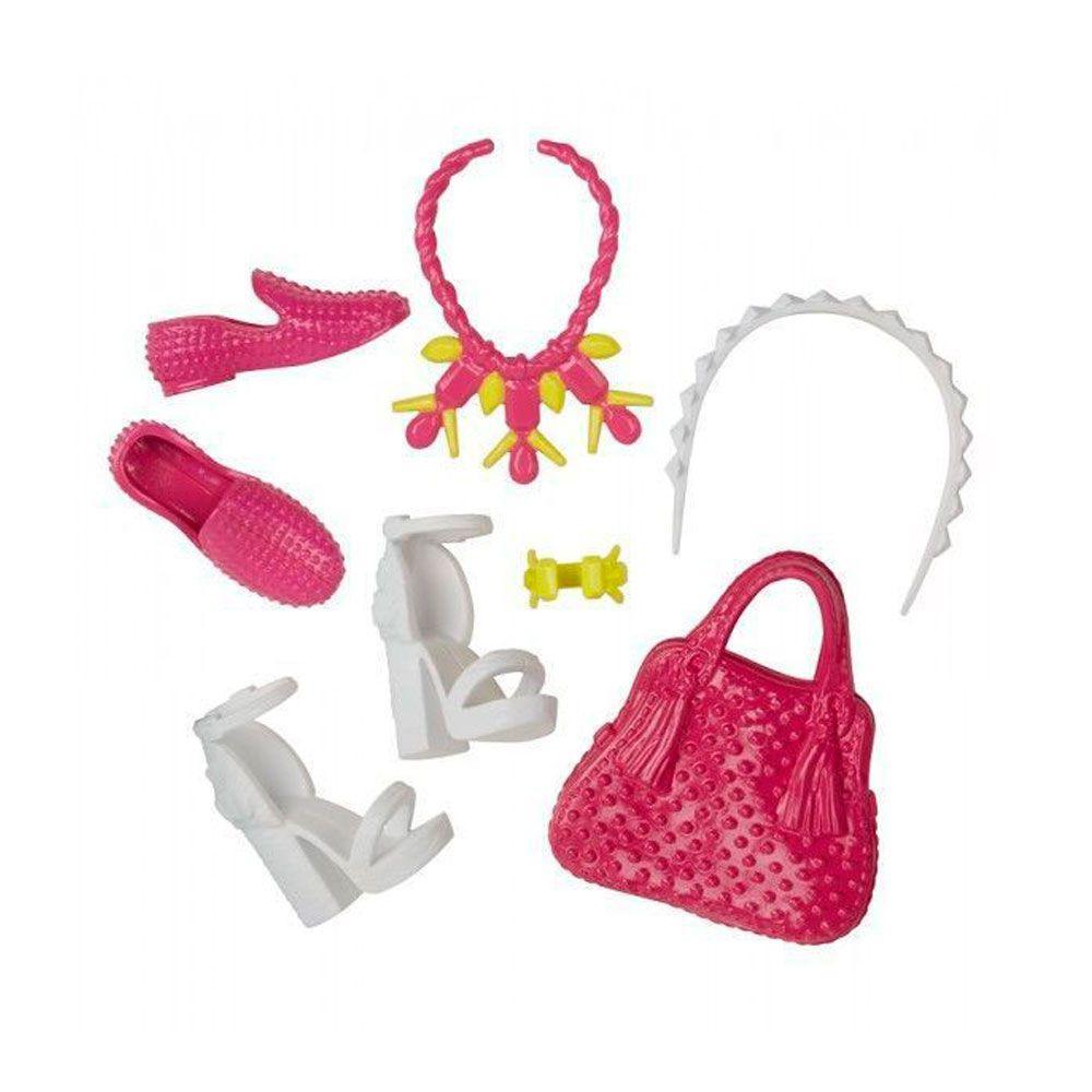 6fbda011c Acessórios Barbie - Bolsas e Sapatos - Serie - 6 - Mattel Produto não  disponível