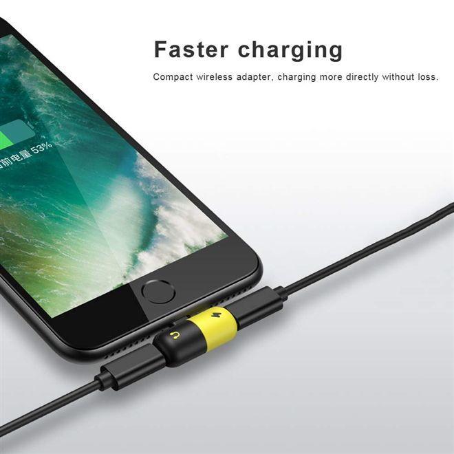 aae40ddb8db Adaptador duplo para iphone para fone e carregador 2 em 1 para iphone 7 7s+  8 8plus+ x lightning au - Gimp R$ 24,19 à vista. Adicionar à sacola