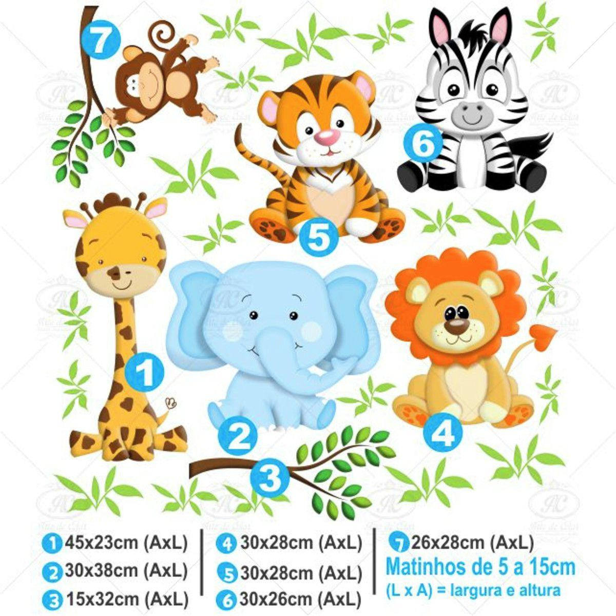 Adesivo De Parede Infantil Safari Arte De Colar Adesivo De
