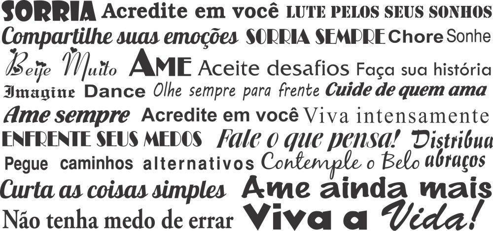 Adesivo Decorativo De Parede Frases Sorria Apaixonado Palavras Motivacional Gaudesivos