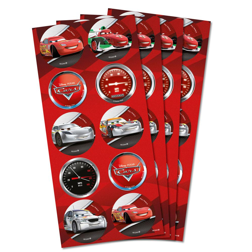 Adesivo Redondo Carros 2 C 3 Cartelas Regina Adesivos Magazine