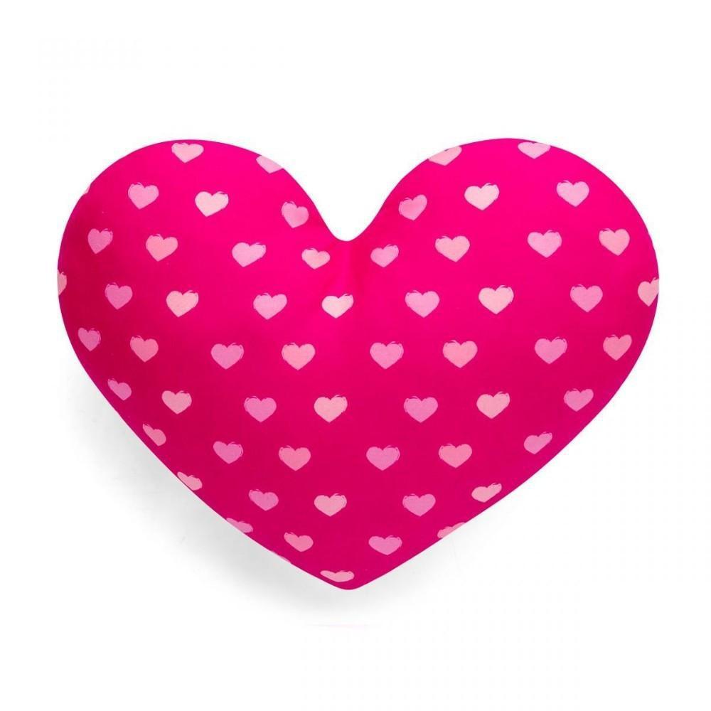 ee86953f0180c7 Almofada Coração Smurfs - Eu Amo Você - Rosa - Ludi