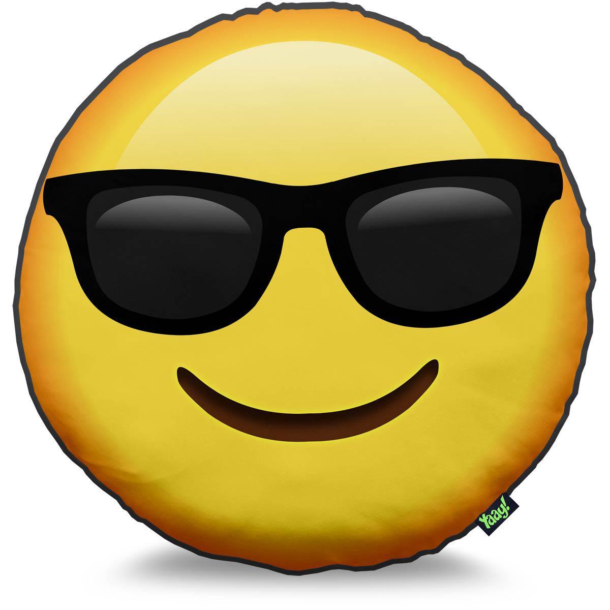 Almofada emoticon emoji culos de sol yaay almofada - Emoticono gafas de sol ...