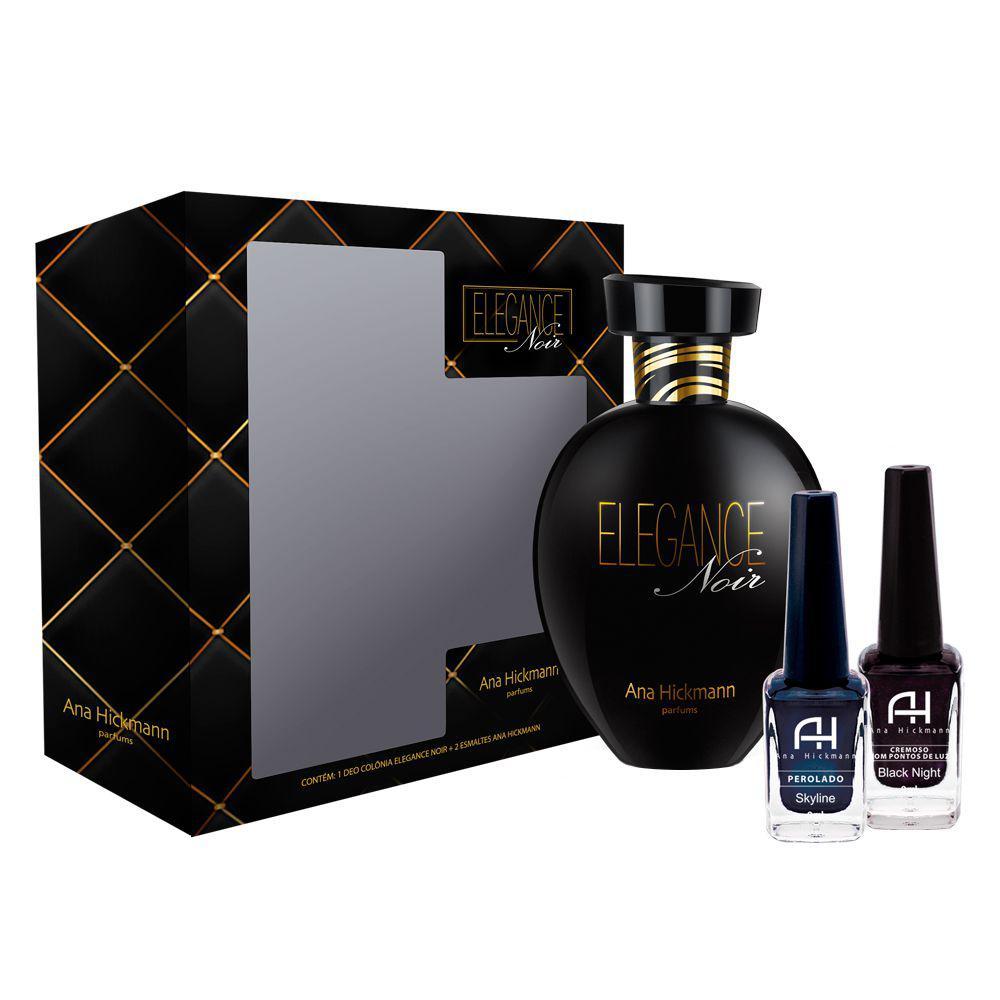 Ana Hickmann Elegance Noir Kit - Deo Colônia + 2 Esmaltes R  69,90 à vista.  Adicionar à sacola c9a4ca507a