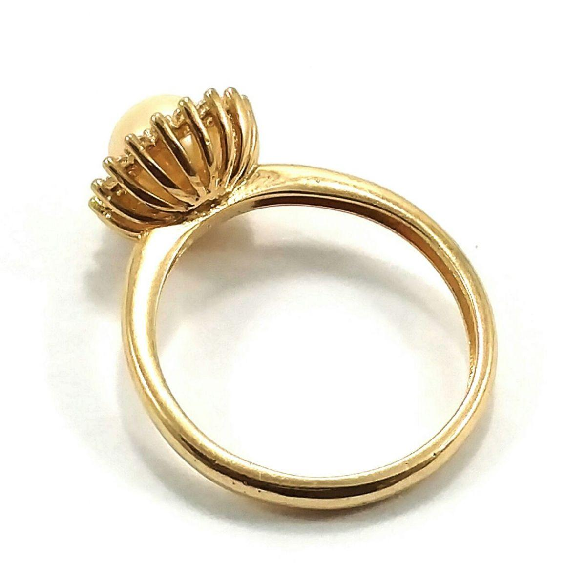 234aa323c981f Anel de ouro 18k princesa pérola - Midasstore - Anel - Magazine Luiza