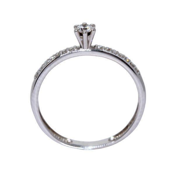 d570277b1451c Anel Solitário Ouro Branco 18k Diamantes - cod.9430 - Retran joias R   2.976,90 à vista. Adicionar à sacola