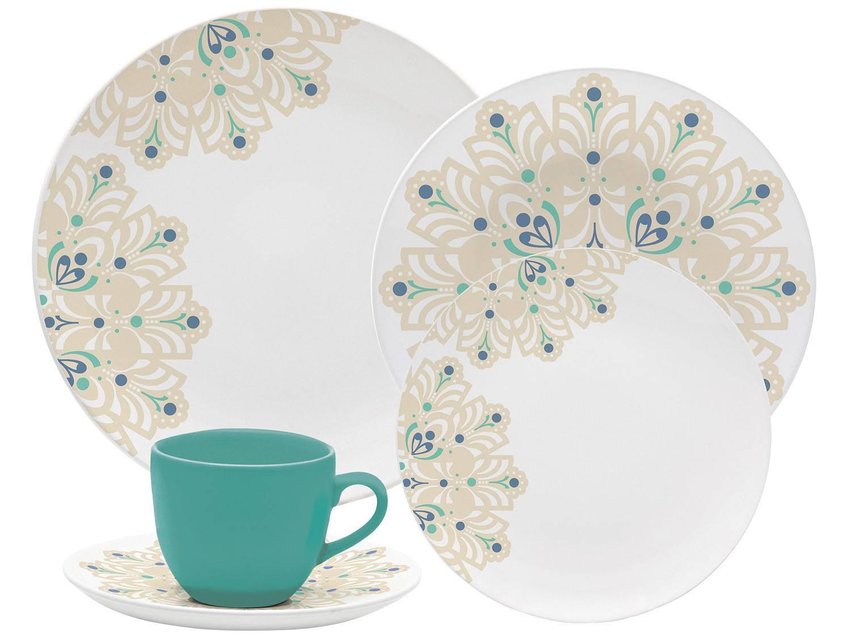 Aparelho De Jantar Chá 20 Peças Oxford Porcelana Redondo Branco
