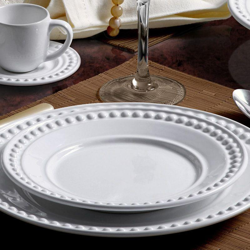 Aparelho De Jantar Com 42 Peças Atenas Branco Porto Brasil