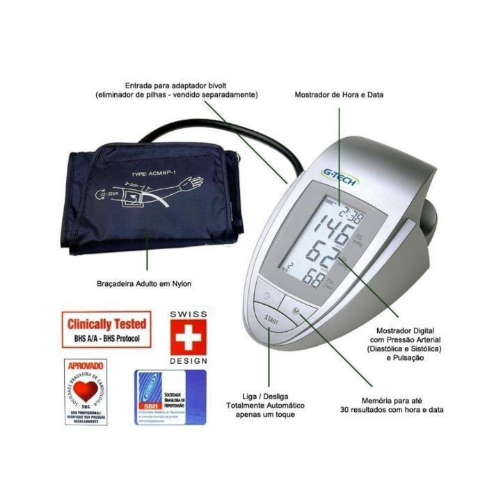 3f424f14a Aparelho Medidor de Pressão Digital de Braço G-Tech BP3AA1 - Medidor ...