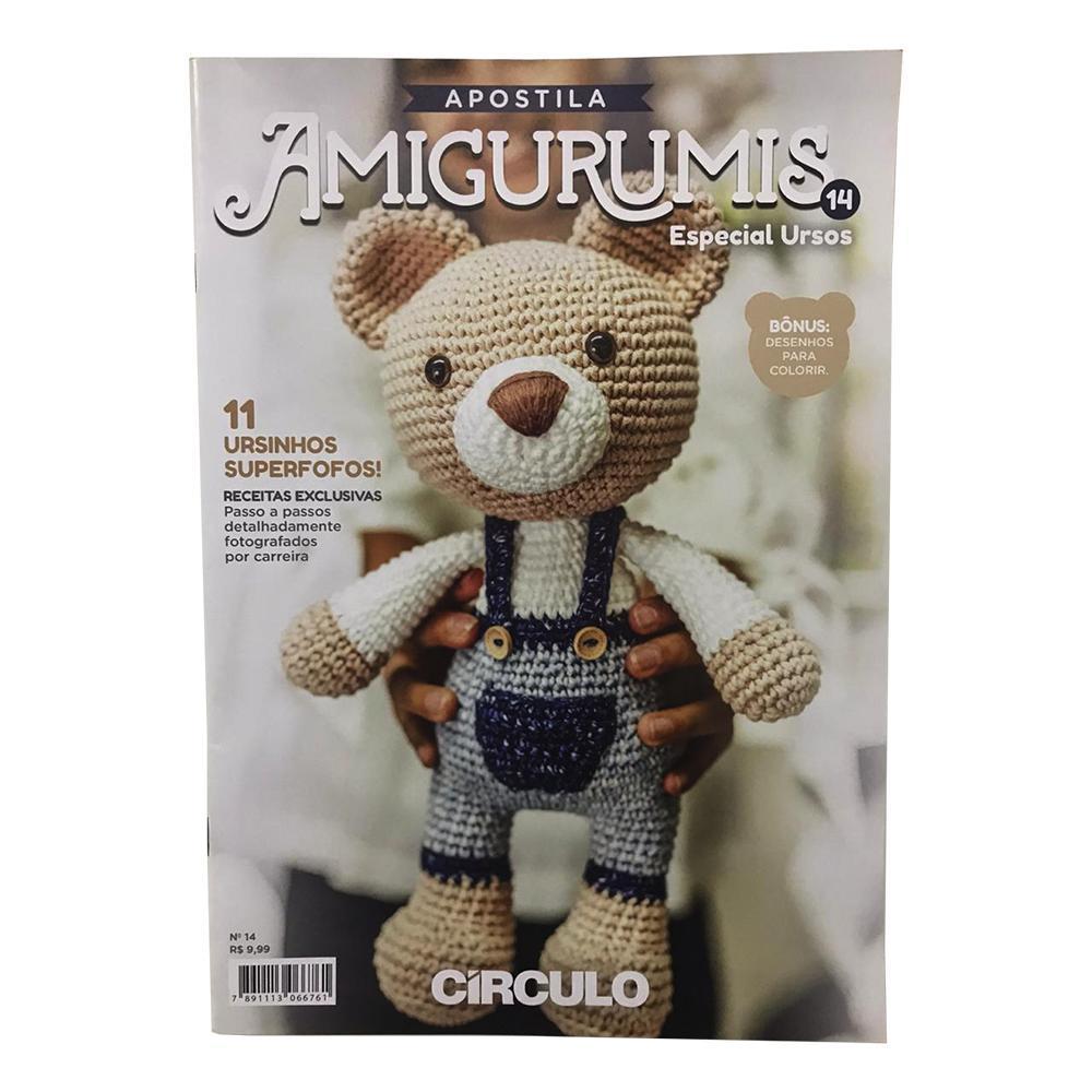 Urso castanho feito em crochet com as linhas Amigurumi - Circulo ... | 1000x1000