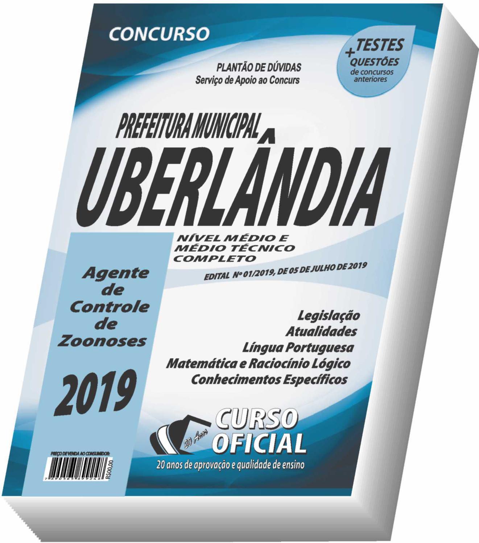 Apostila Prefeitura de Uberlândia - Agente de Controle de Zoonoses - Curso  oficial - Livros para Concurso Público - Magazine Luiza