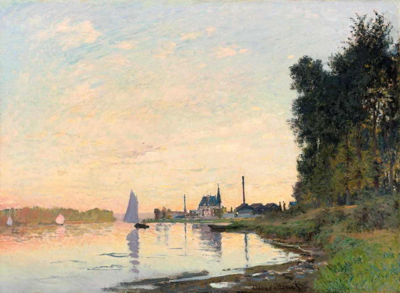 Argenteuil à Tardinha - Claude Monet - Tela 60x82 Para Quadro - Santhatela  - Quadro Decorativo - Magazine Luiza