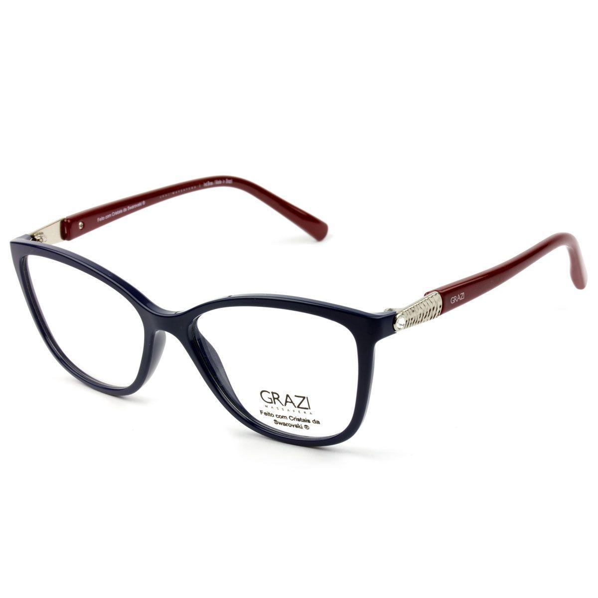 b2454fbcc Armação Óculos De Grau Feminino Grazi Massafera GZ3022B E104 R$ 224,00 à  vista. Adicionar à sacola