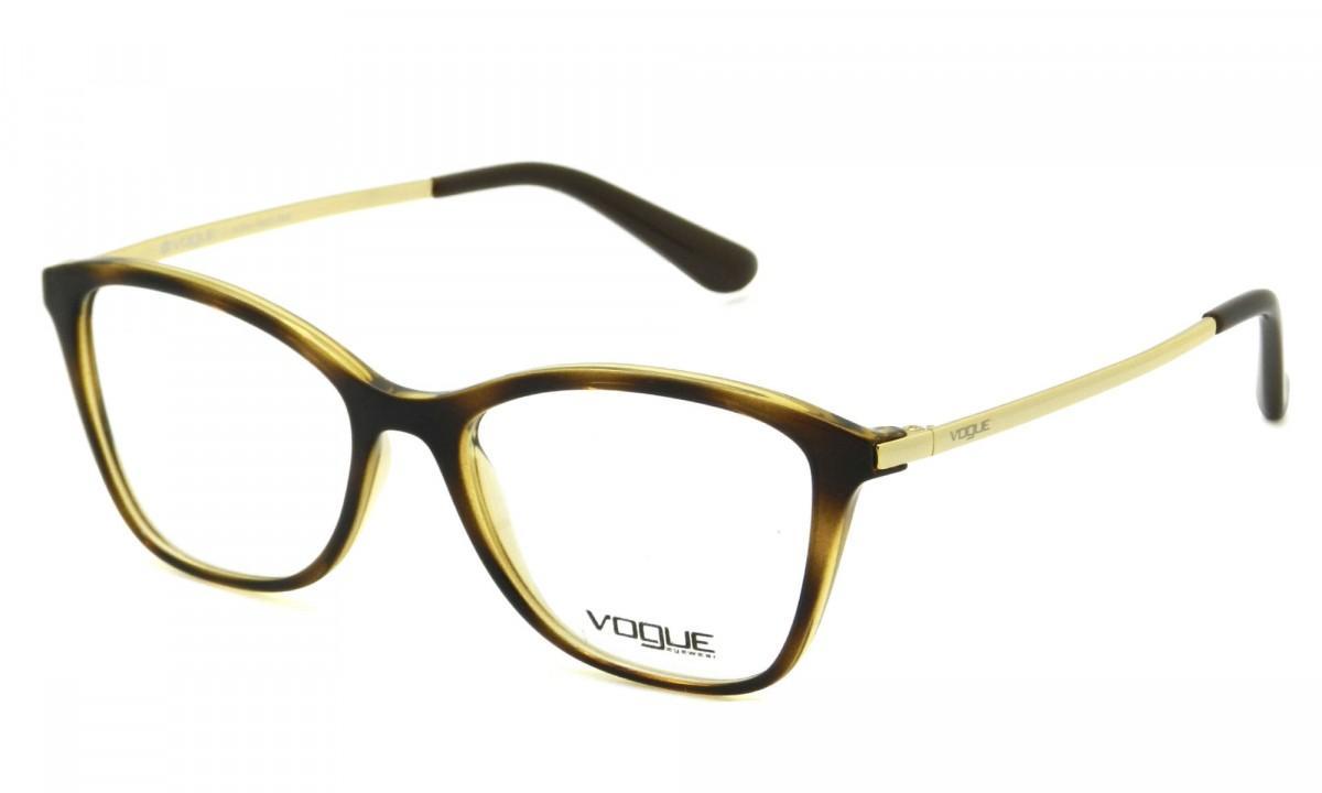 6dad3edea90a0 Armação Óculos de Grau Vogue Feminino VO5152L W656 - Óptica ...