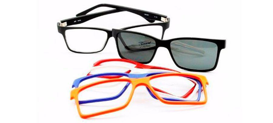 fd7df22fd0e95 Armação para óculos de grau smart com clip-on 933 - Óptica ...