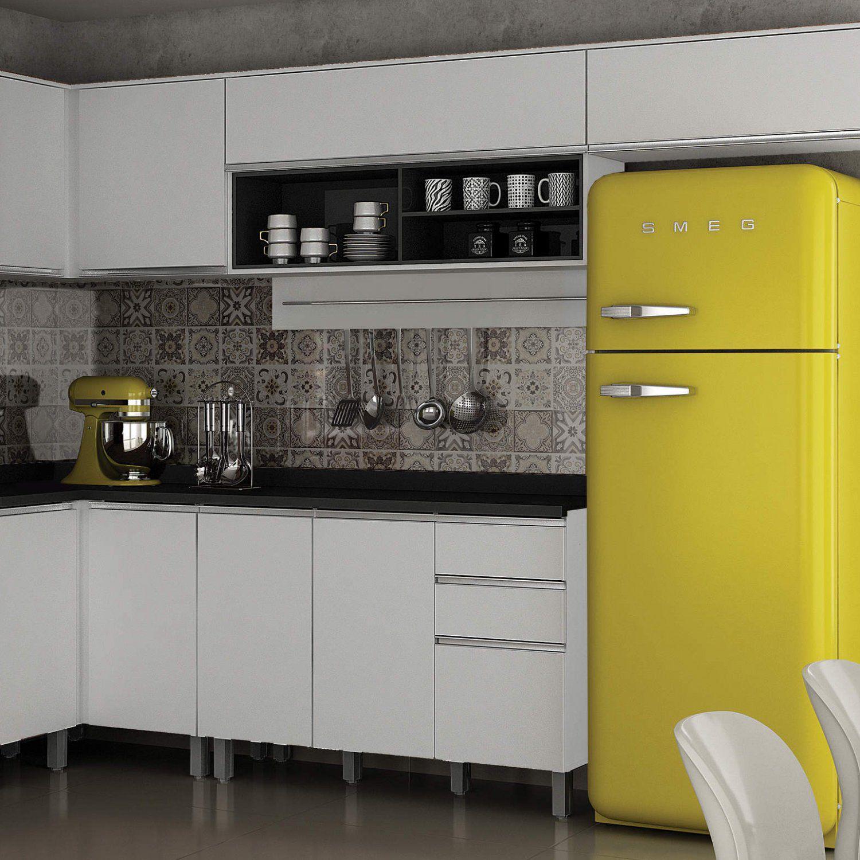 Armário Aéreo De Cozinha Com Nicho 1 Porta Turquesa Valdemóveis