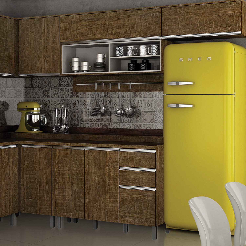 Armário Aéreo De Cozinha Com Nicho 1 Porta Turquesa Valdemóveis Ipê