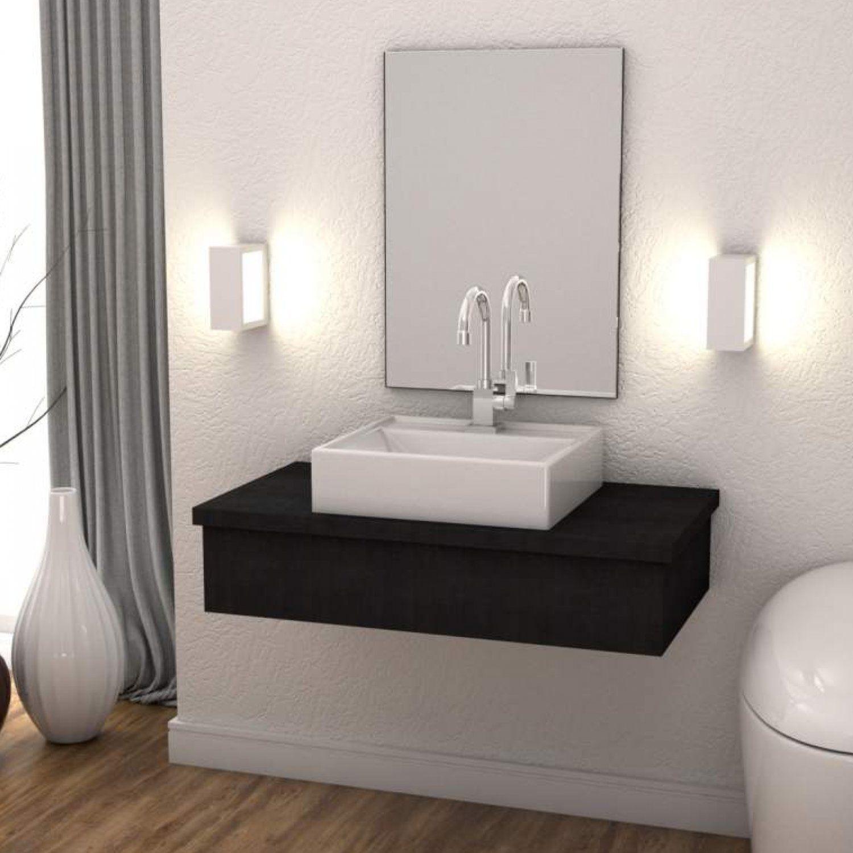 Bancada Para Banheiro 80cm Com Cuba Q39 800w Metropole Compace Preto Onix Outros Moveis Magazine Luiza