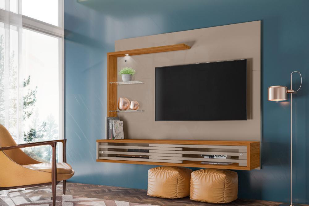 Bancada Suspensa Frizz Select Para Tv 50 Pol Fendi Naturale Profissional Decor Madetec Painel Para Tv Magazine Luiza