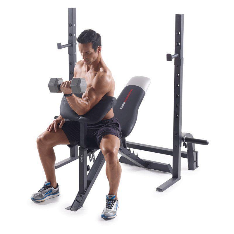 Banco de Musculação Weider Pro 395B Até 120 Kg com 6 Níveis