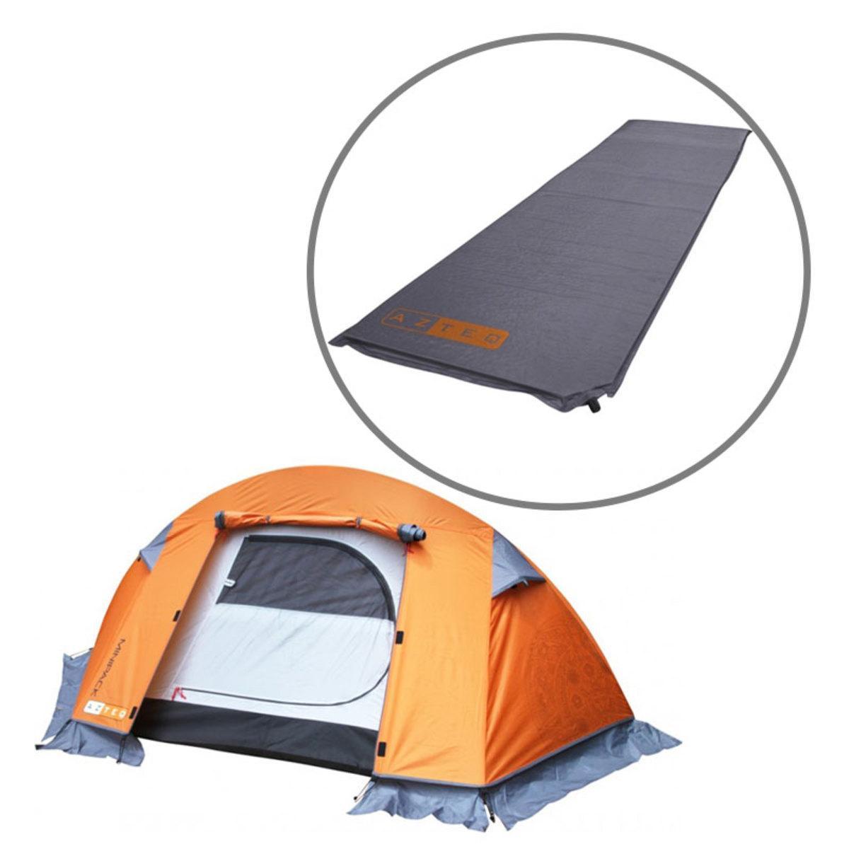 b01200adb Barraca de Camping Mini Pack 1 Pessoa Azteq + Isolante Térmico Colchão Auto  Inflável Ruby - Camelbak R  813