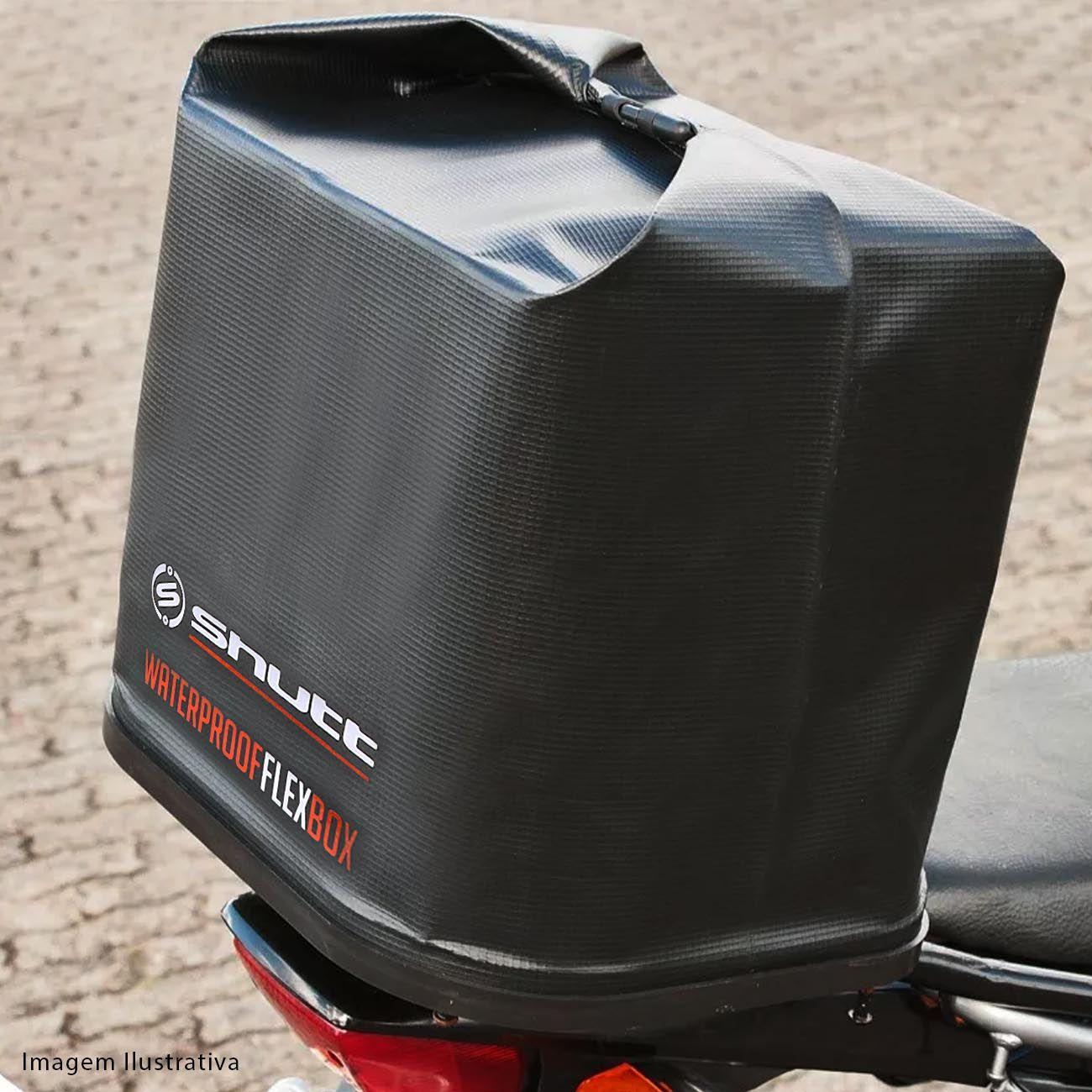 13e539ec451 Baú Bauleto Moto 42 Litros Dobrável Shutt Universal Bauflex Bagageiro  Flexível Lona PVC Preto R$ 84,90 à vista. Adicionar à sacola