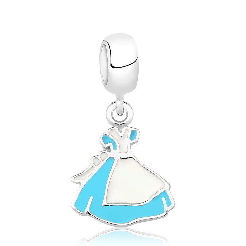 5712e15451c Berloque Vestido Alice Azul - Céu de prata - Berloque - Magazine Luiza