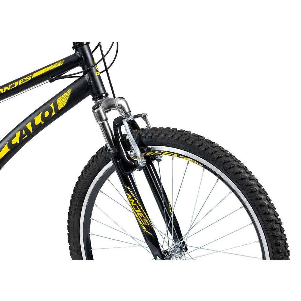 Bicicleta Aro 26 - 21 Marchas com Suspensão Dianteira Andes Mountain Bike  Preta - Caloi R  659 97631a42e4c8f