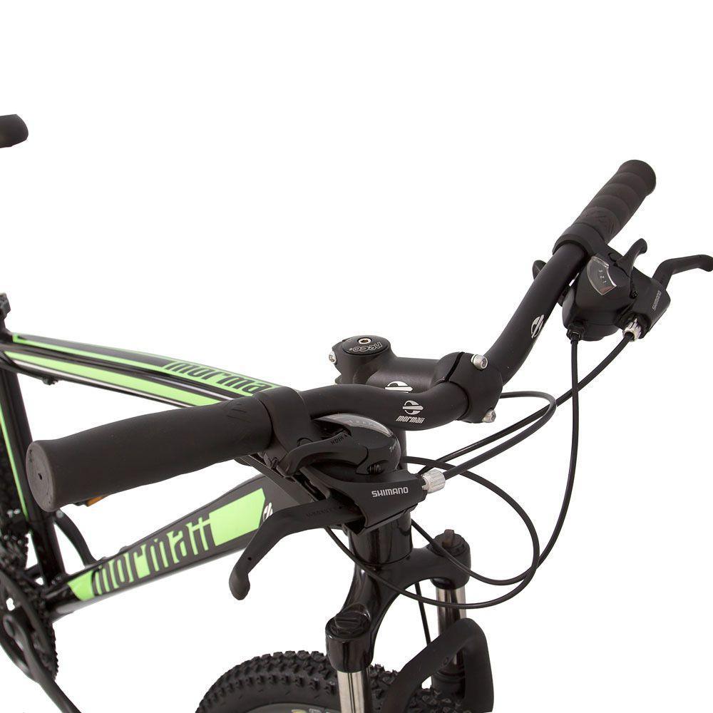 377103940 Bicicleta aro 29 mountain bike venice pró mormaii alumínio + shimano +  suspensão preto-verde Produto não disponível