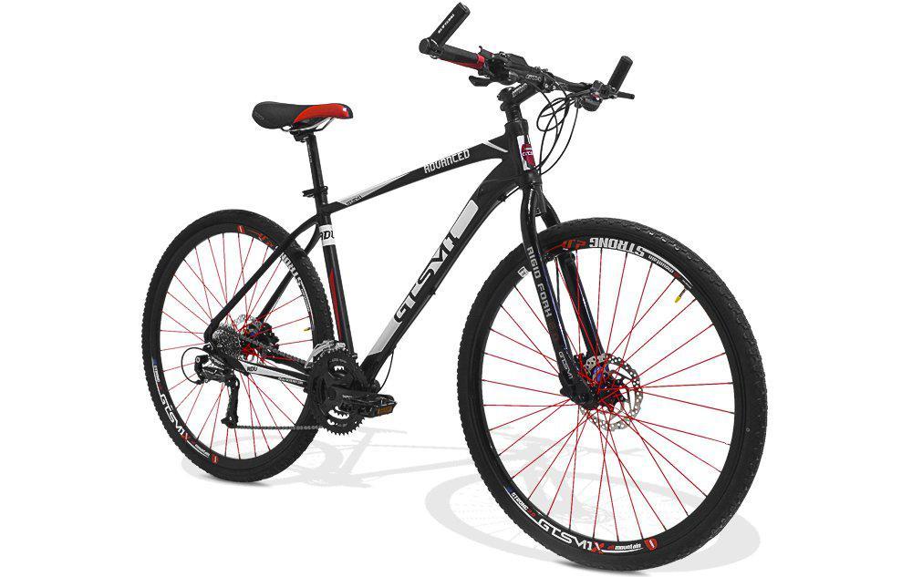Bicicleta de Corrrida GTS M1 Advanced New Aro 29 Freio a Disco 24 Marchas e  Amortecedor - Preto R  1.949 f4c9c51fbef