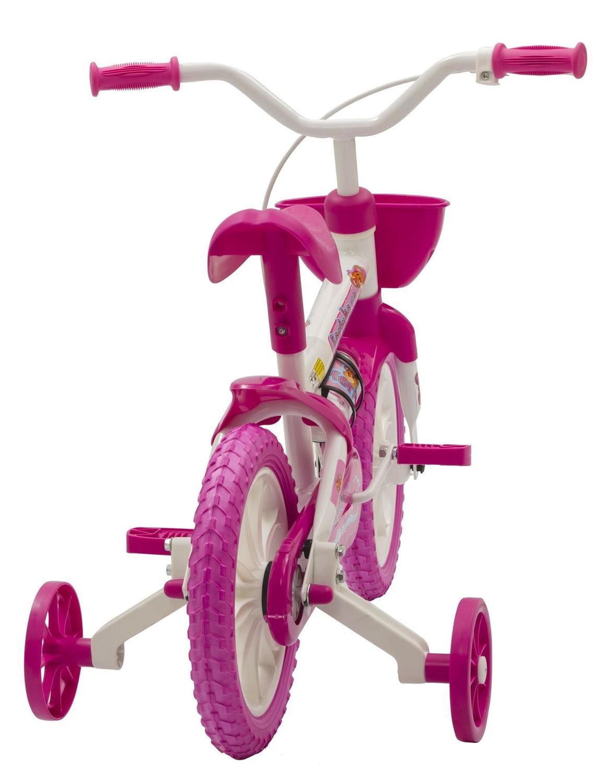 d1a5f45bd Bicicleta Fischer Ferinha Aro 12 Kids Feminina Branco Rosa Produto não  disponível