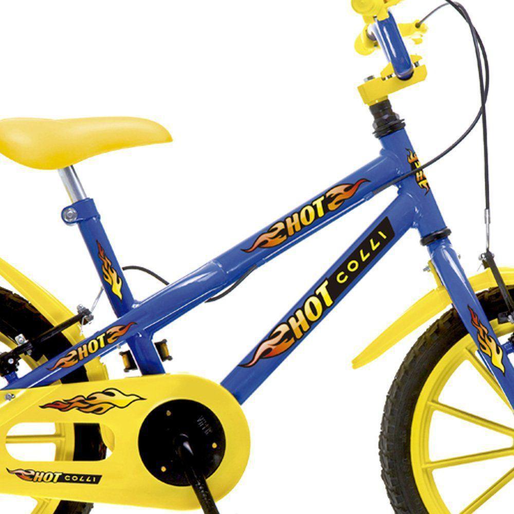 8fa7cb88c Bicicleta Infantil Aro 16 Hot Colli MTB Azul - Colli Bikes R  677