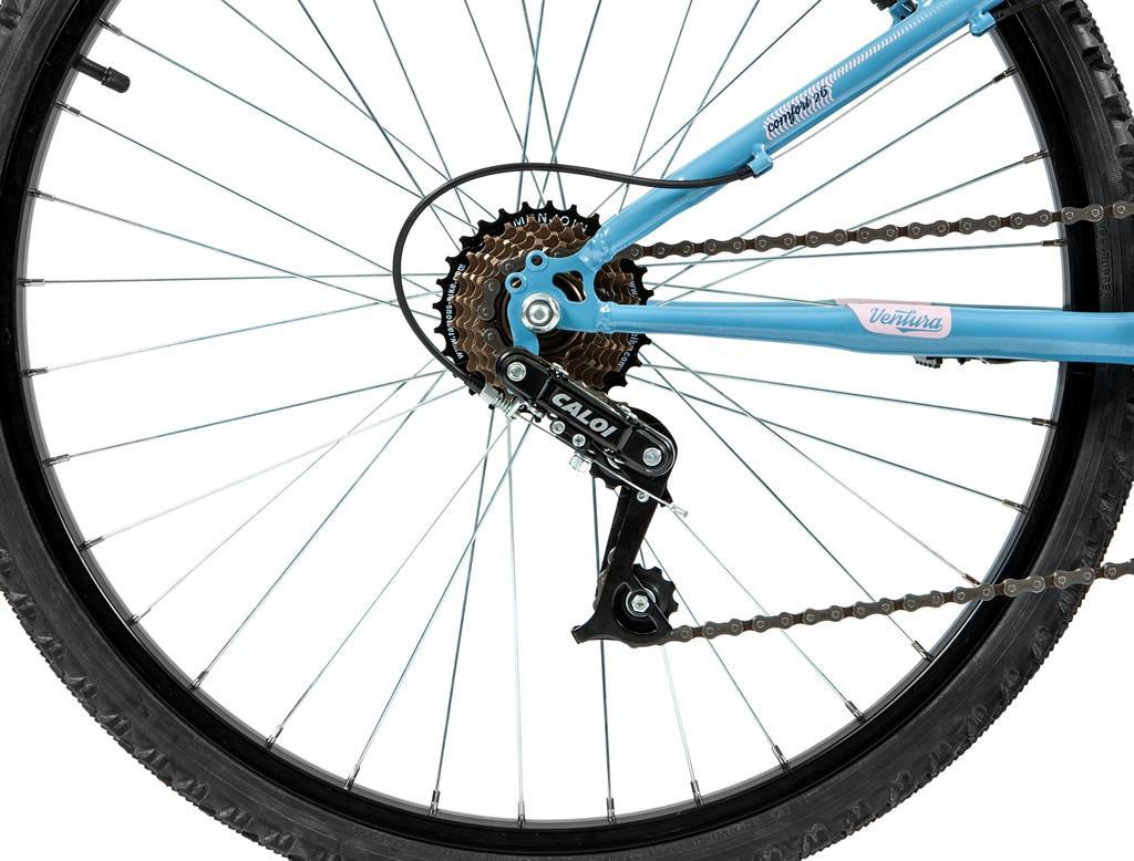 2dbc0bf45 Bicicleta Mobilidade Caloi Ventura Aro 26 - com Cesto Freio V-Brake 21  Velocidades - Azul R  599