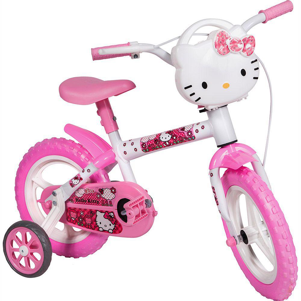 ea507b8db Bicicleta Styll Baby Hello Kitty Aro 12 Infantil Produto não disponível