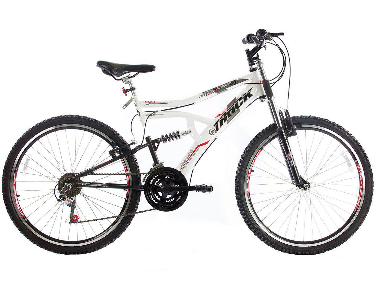 7ac2adca9 Bicicleta Track Bikes Boxxer New Aro 26 - 21 Marchas Dupla Suspensão Freio  V-brake R  656
