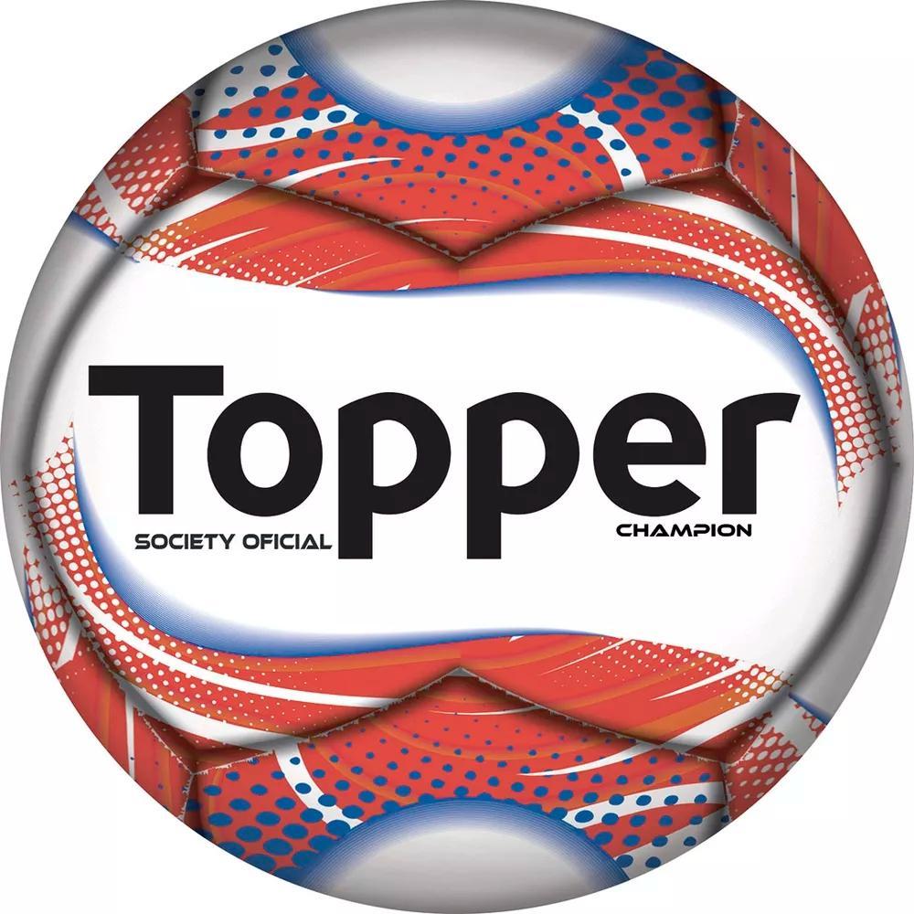 cb5c3daad3 Bola de Futebol Society Grama Sintética Champion - Branco e Neon - Topper  Produto não disponível
