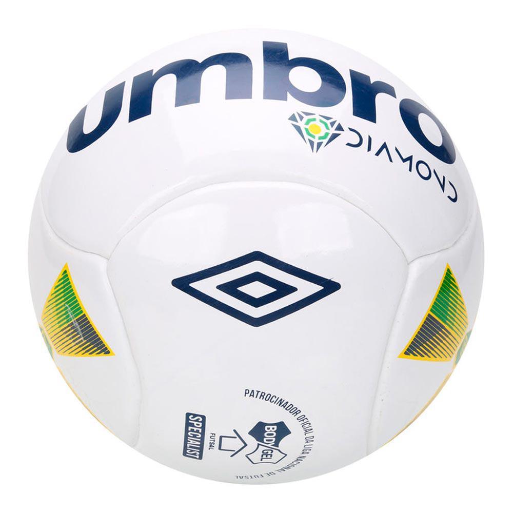 47ff0f0e935cb Bola de Futsal Diamond Profissional Umbro Branco e Azul Produto não  disponível