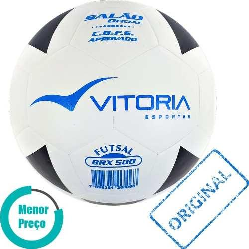 0a8d11978a Bola Futsal Vitória Oficial Vulcanizada Brx 500 - 3 Unidades - Vitoria  esportes R  149