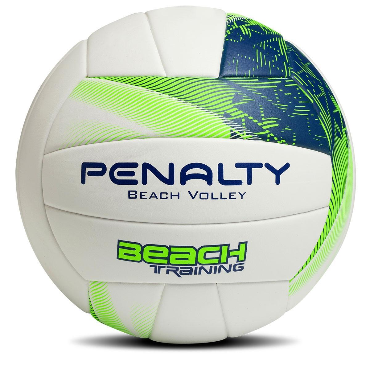 Bola oficial de Volei de Praia - Beach Training - Branca Verde - Penalty -  R  99 383585213b4a2