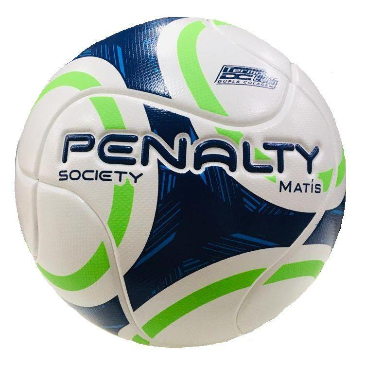 Bola Society Penalty Matís IX - Branco/ Azul/ Verde - Bola de Futebol  Society - Magazine Luiza