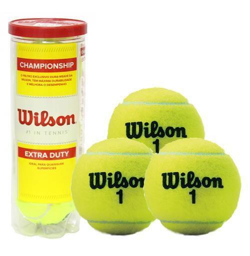 214501d19 Bola Tênis Wilson Championship com 03 Unidades - Bola de Tênis ...