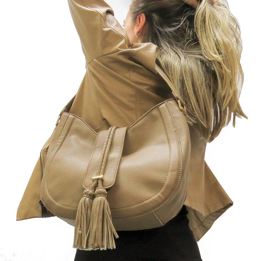 5453cc7b9 Bolsa Arredondada Barbicacho Bege - Zap Accessories R$ 159,90 à vista.  Adicionar à sacola
