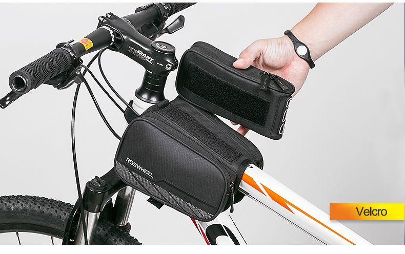 8bf4d9707e0 Bolsa Case Quadro Bicicleta Bike Ciclismo Dupla Com Suporte Celular Top -  Roswheel R$ 120,00 à vista. Adicionar à sacola