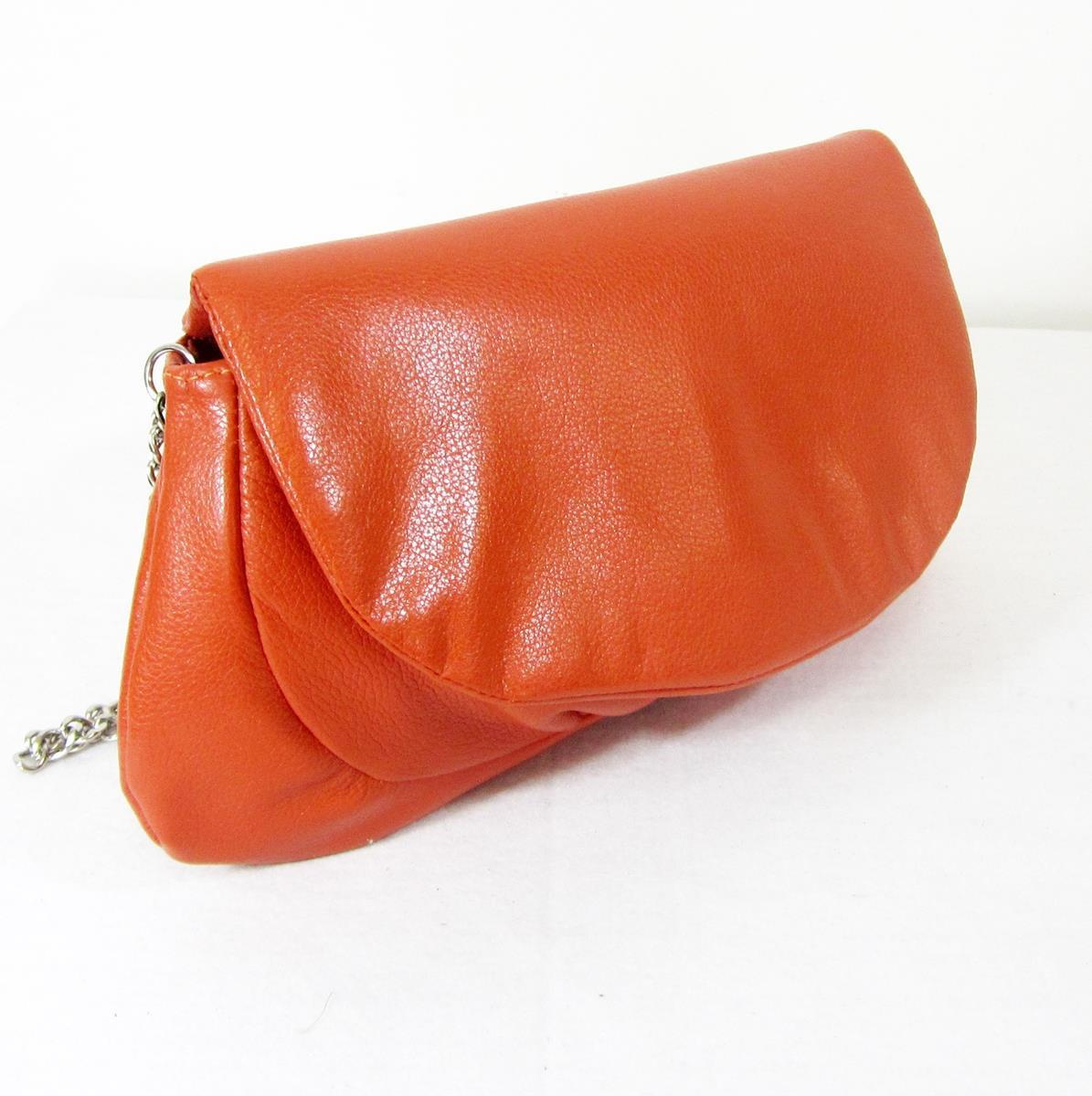 f20d8e3dd Bolsa de couro transversal laranja - alça de corrente maria adna R$ 180,00  à vista. Adicionar à sacola