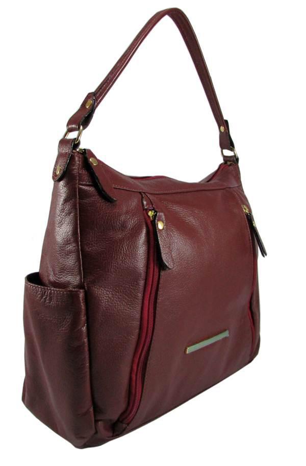 Bolsa Feminina Couro Tipo Saco - Couribi - Bolsas e acessórios ... c92942762a2
