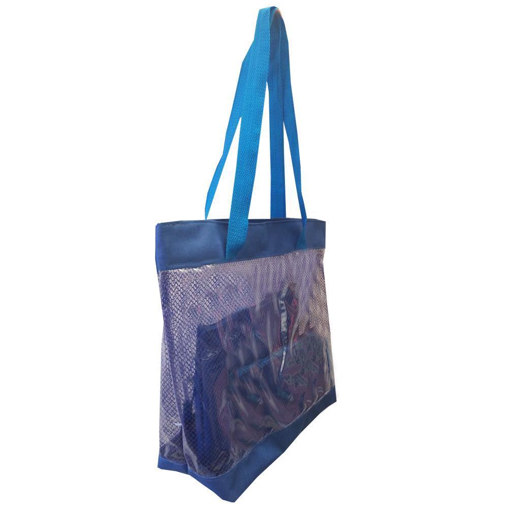c19110207 Bolsa feminina de praia e piscina grande transparente Azul Azul - Meu tio  que fez R$ 41,62 à vista. Adicionar à sacola
