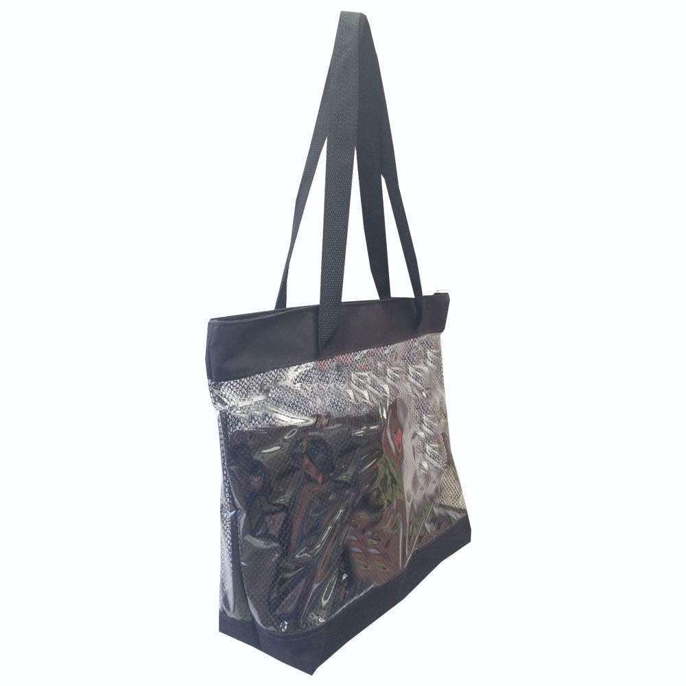 b44617a53 Bolsa feminina de praia estilo sacola transparente com necessaires Preta - Meu  tio que fez R$ 41,62 à vista. Adicionar à sacola