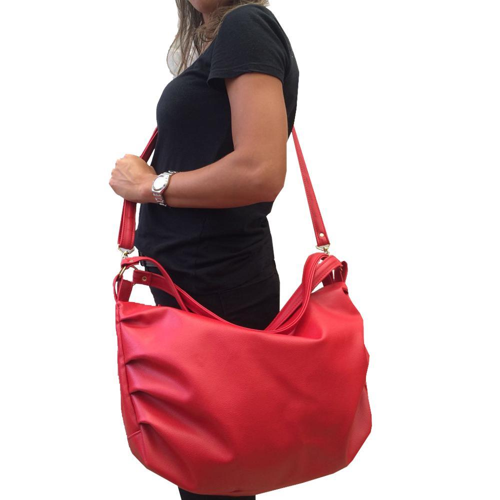 e5b1fcc8a Bolsa Feminina grande de ombro acompanha alça transversal regulável Vermelha  - Meu tio que fez R$ 76,90 à vista. Adicionar à sacola